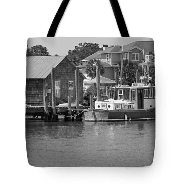 On Shem Creek Tote Bag by Suzanne Gaff