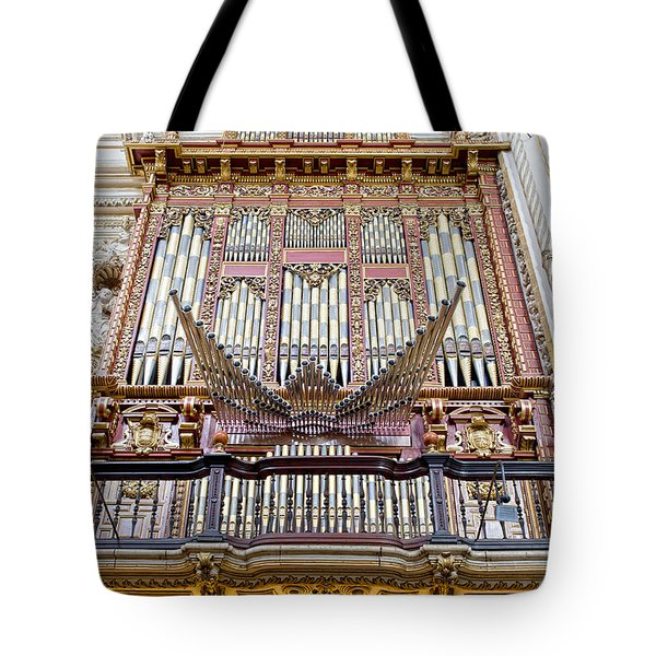 Organ in Cordoba Cathedral Tote Bag by Artur Bogacki