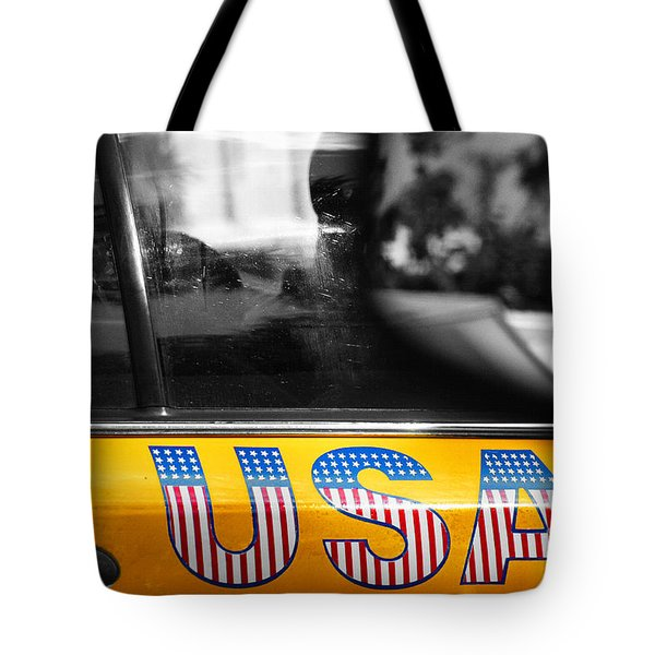 Patriotic Usa Taxi Tote Bag by Anahi DeCanio