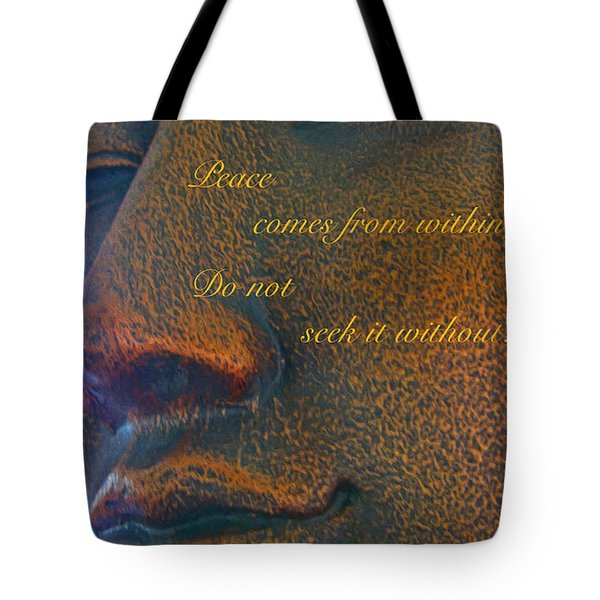 Peace Tote Bag by Cheryl Young