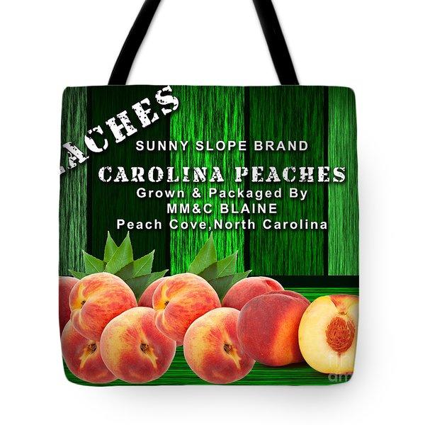 Peach Farm Tote Bag by Marvin Blaine