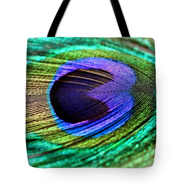 Peacock Feather Tote Bag by Heike Hultsch