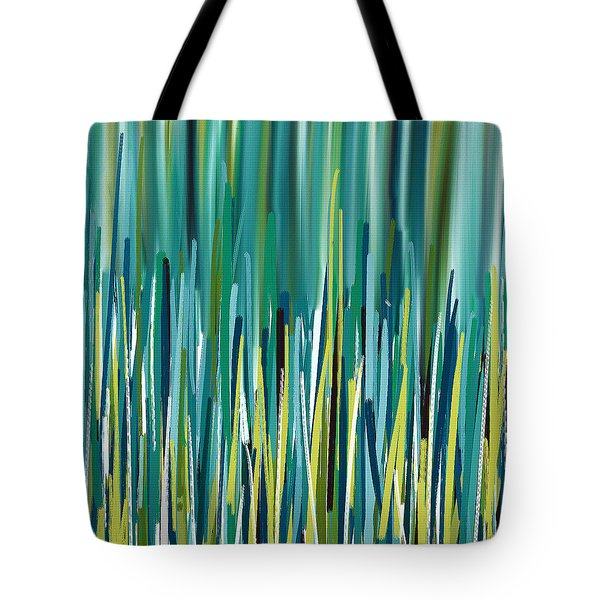 Peacock Spikes Tote Bag by Lourry Legarde