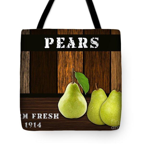 Pear Farm Tote Bag by Marvin Blaine