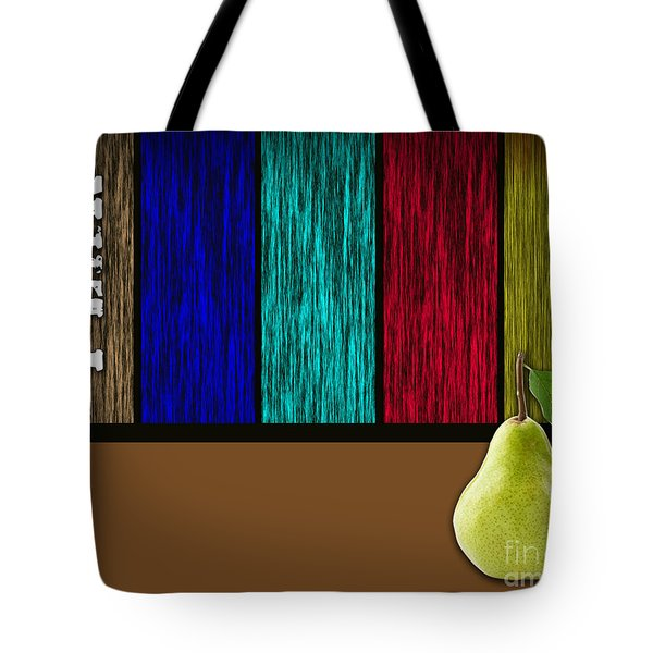 Pear Tote Bag by Marvin Blaine