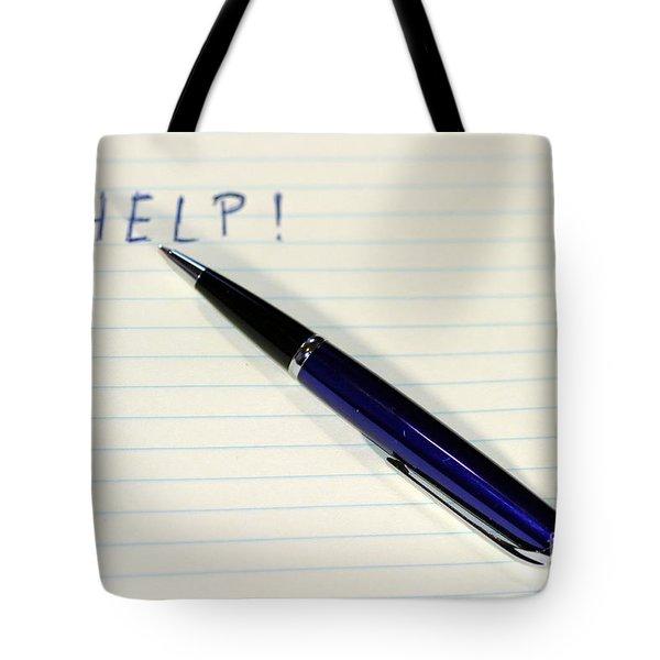 Pen Help Tote Bag by Henrik Lehnerer