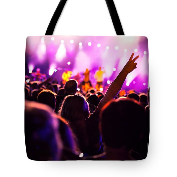 People On Music Concert Tote Bag by Michal Bednarek