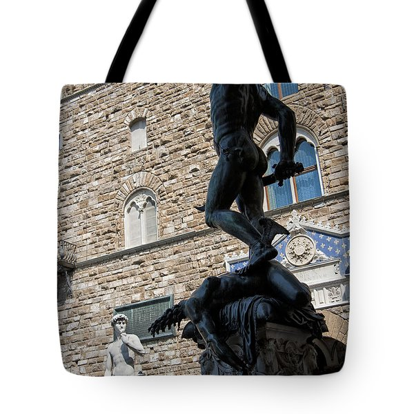 Perseus By Cellini Tote Bag by Melany Sarafis