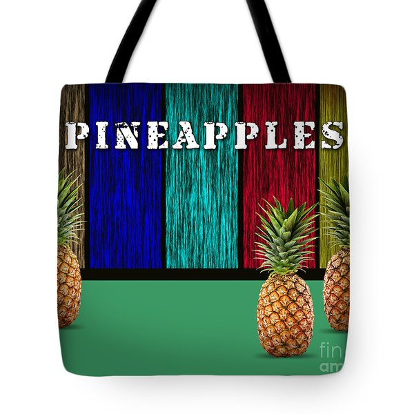 Pineapples Tote Bag by Marvin Blaine
