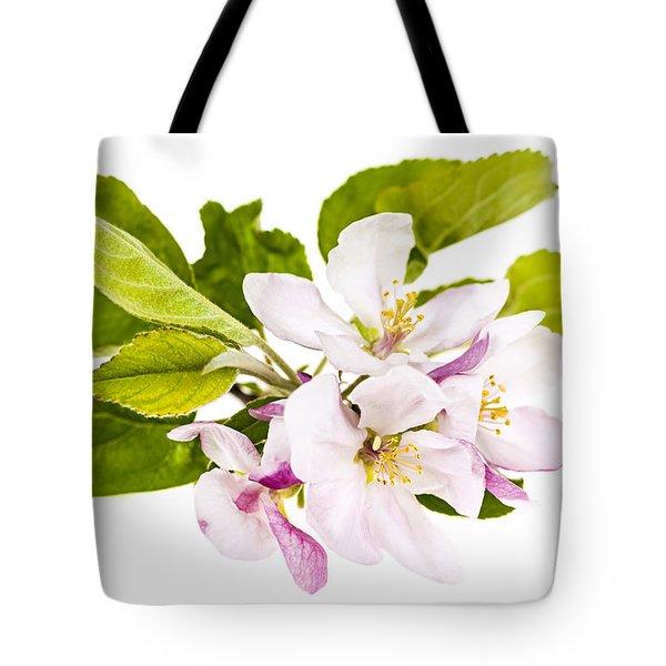 Pink Apple Blossoms Tote Bag by Elena Elisseeva
