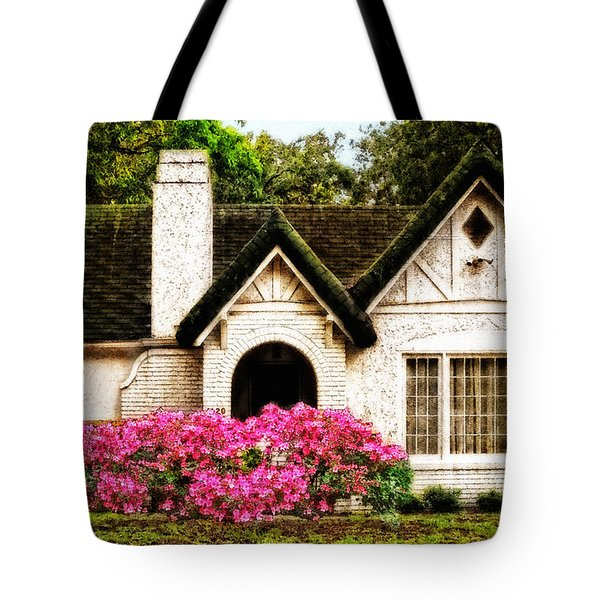 Pink Azaleas - Old Southern Charm By Sharon Cummings Tote Bag by Sharon Cummings