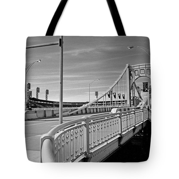 Pittsburgh - Roberto Clemente Bridge Tote Bag by Frank Romeo