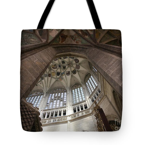 pointed vault of Saint Barbara church Tote Bag by Michal Boubin