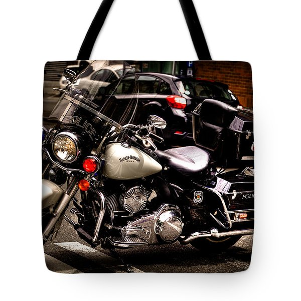 Police Harley Tote Bag by David Patterson
