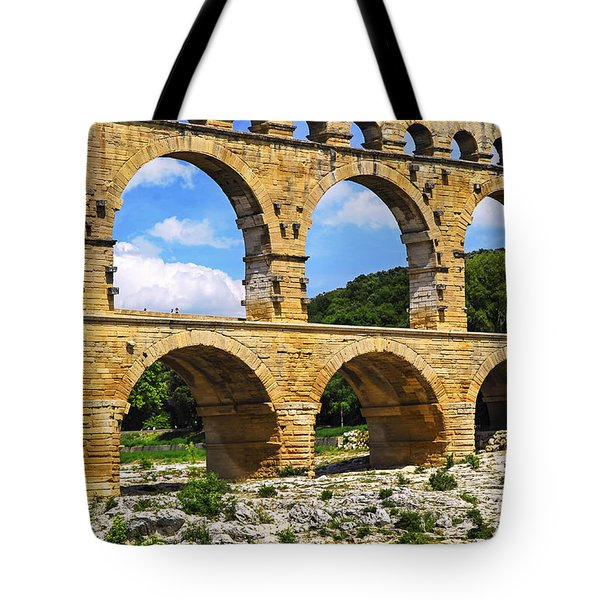 Pont Du Gard In Southern France Tote Bag by Elena Elisseeva
