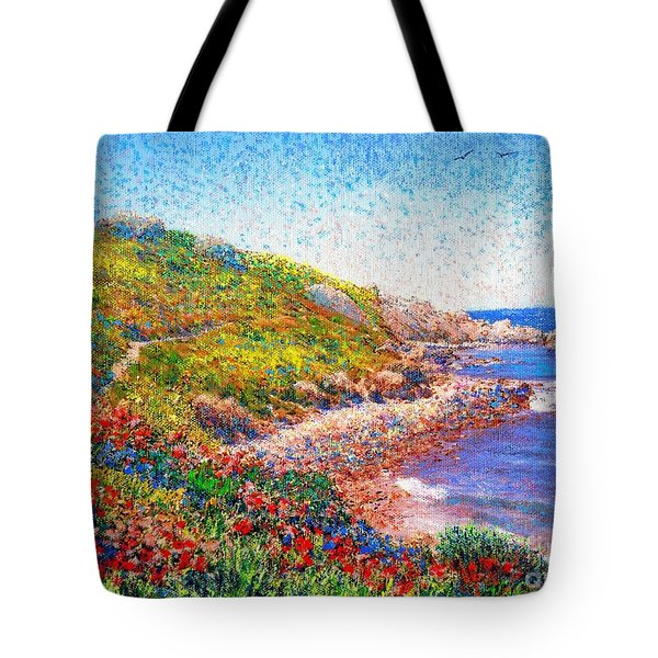 Enchanted By Poppies Tote Bag by Jane Small