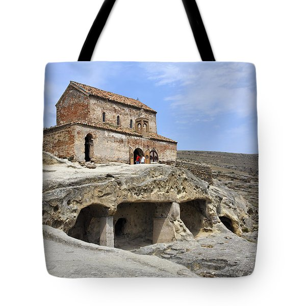 Prince's Church In Uplistsikhe Gori Georgia  Tote Bag by Robert Preston
