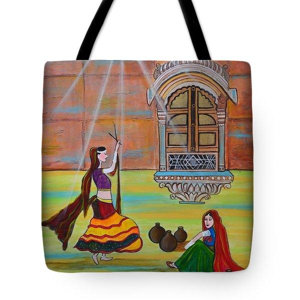 Rajasthani Ladies-dandiya Tote Bag by Manjiri Kanvinde