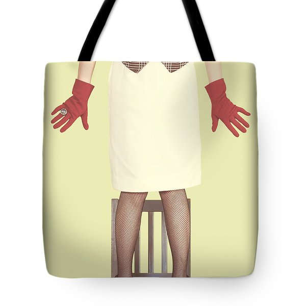 Red Gloves Tote Bag by Joana Kruse