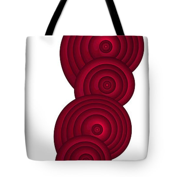 Red Spirals Tote Bag by Frank Tschakert
