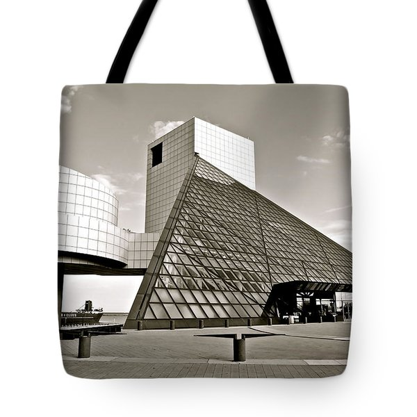 Rock Hall Of Fame Tote Bag by Frozen in Time Fine Art Photography