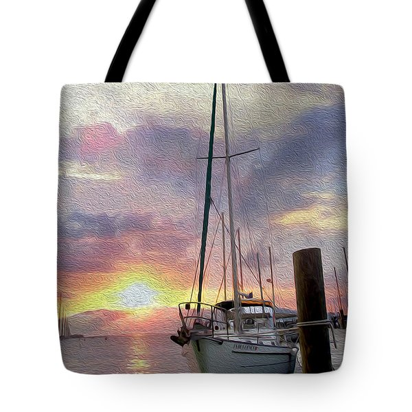Sailboat Tote Bag by Jon Neidert