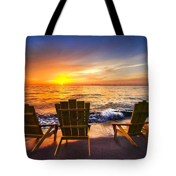 Sea Dreams II Tote Bag by Debra and Dave Vanderlaan