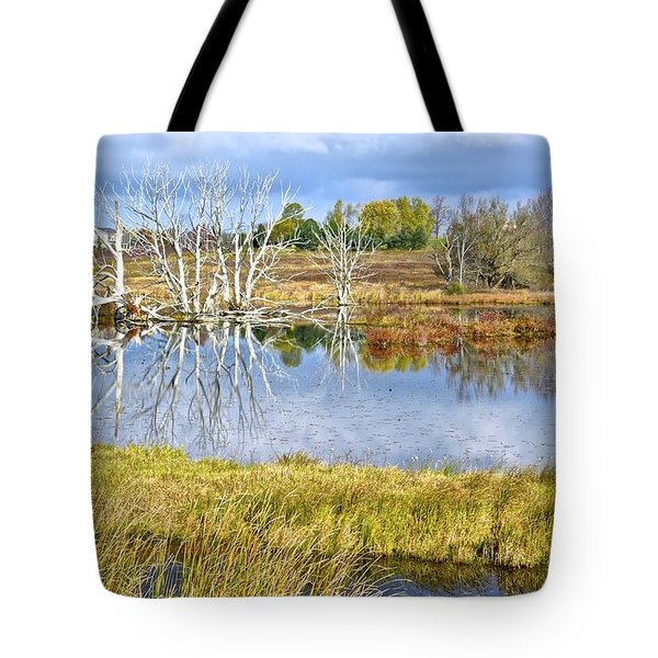 Seasons End Tote Bag by Frozen in Time Fine Art Photography