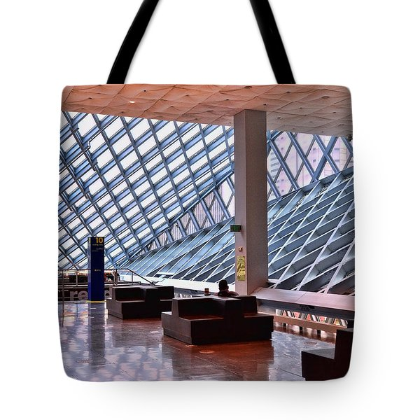 Seattle Library Reading Room 2 Tote Bag by Allen Beatty