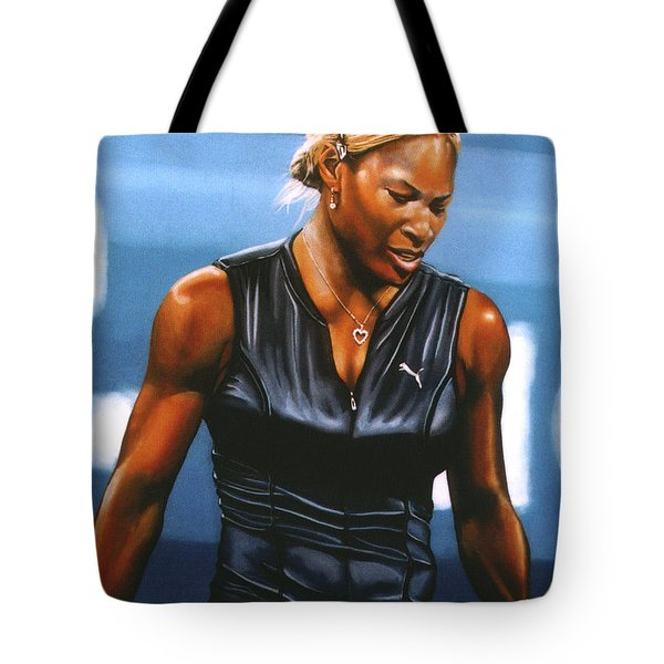 Serena Williams Tote Bag by Paul Meijering