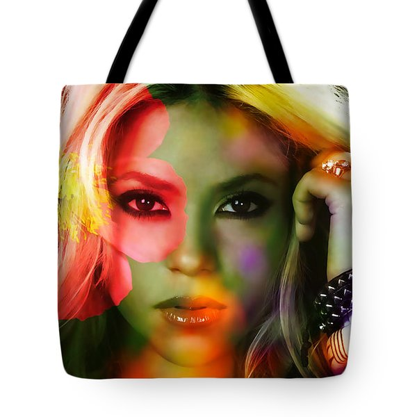 Shakira Tote Bag by Marvin Blaine