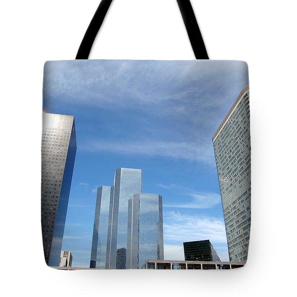 Skyscrapers Tote Bag by Michal Bednarek