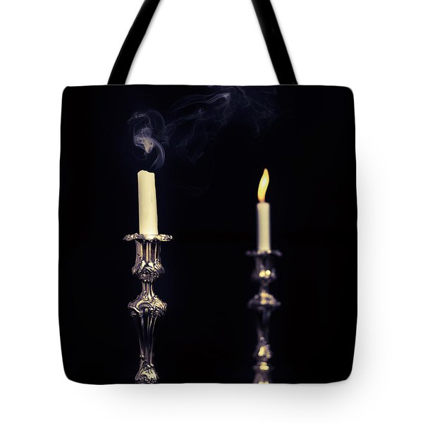 Smoking Candle Tote Bag by Amanda And Christopher Elwell