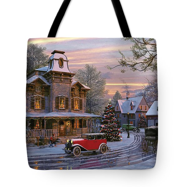 Snow Streets Tote Bag by Dominic Davison
