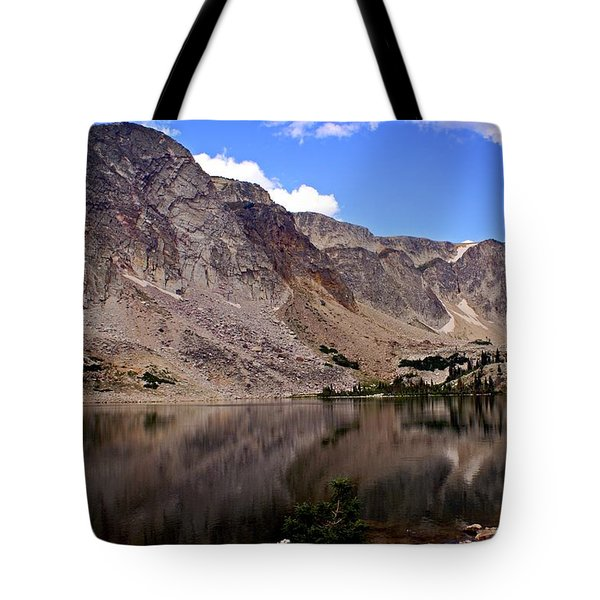Snowy Mountain Loop 1 Tote Bag by Marty Koch