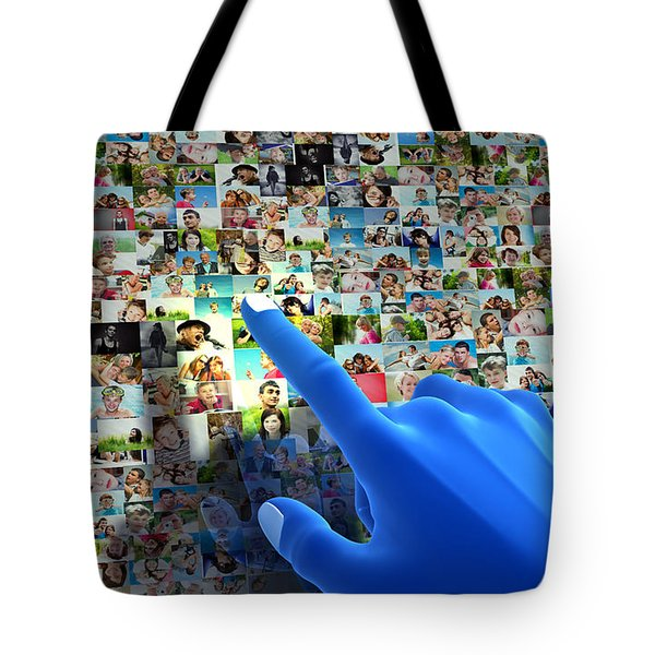 Social Media Network Tote Bag by Michal Bednarek
