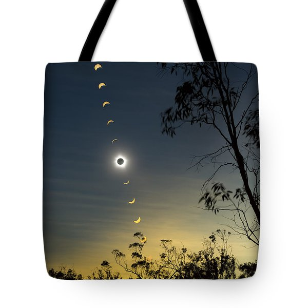 Solar Eclipse Composite, Queensland Tote Bag by Philip Hart