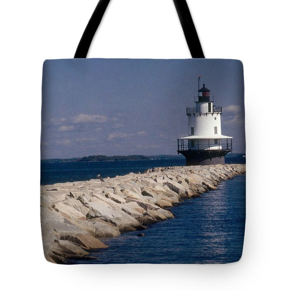 Spring Point Ledge Lighthouse Tote Bag by Bruce Roberts