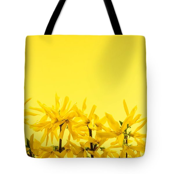 Spring Yellow Forsythia Tote Bag by Elena Elisseeva