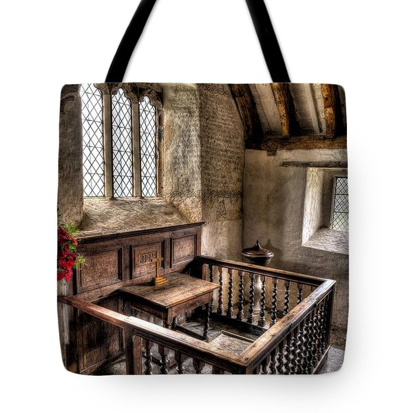 St Celynnin Church Tote Bag by Adrian Evans