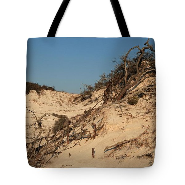 St Joseph Sand Dunes Tote Bag by Adam Jewell