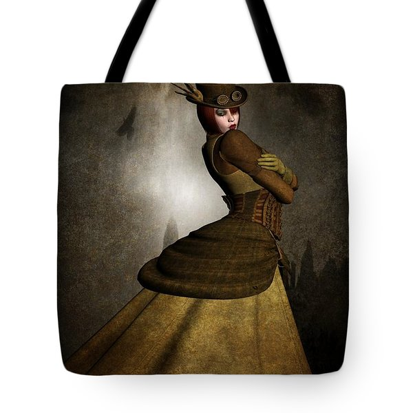 Steam Punk Woman Tote Bag by Todd and candice Dailey