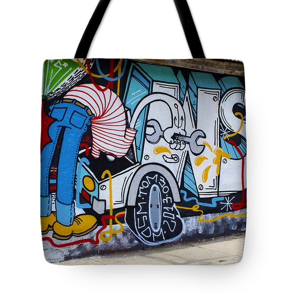 Street Art Valparaiso Chile 15 Tote Bag by Kurt Van Wagner