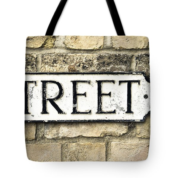 Street Sign Tote Bag by Tom Gowanlock