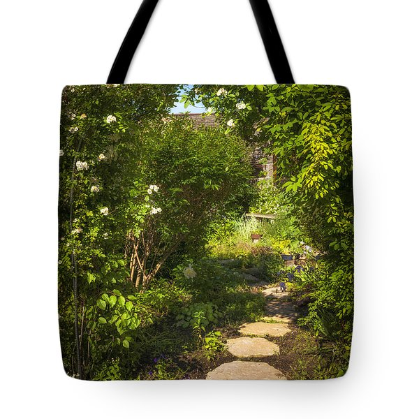 Summer garden and path Tote Bag by Elena Elisseeva