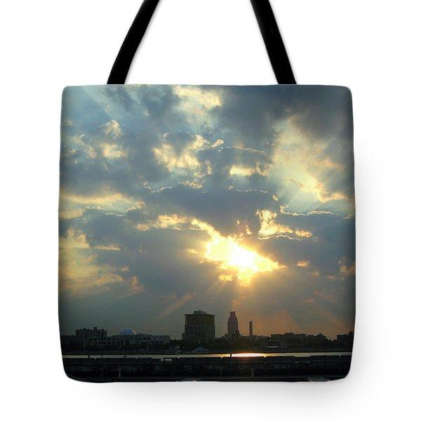 Sunrise Over Philadelphia Tote Bag by Shoal Hollingsworth