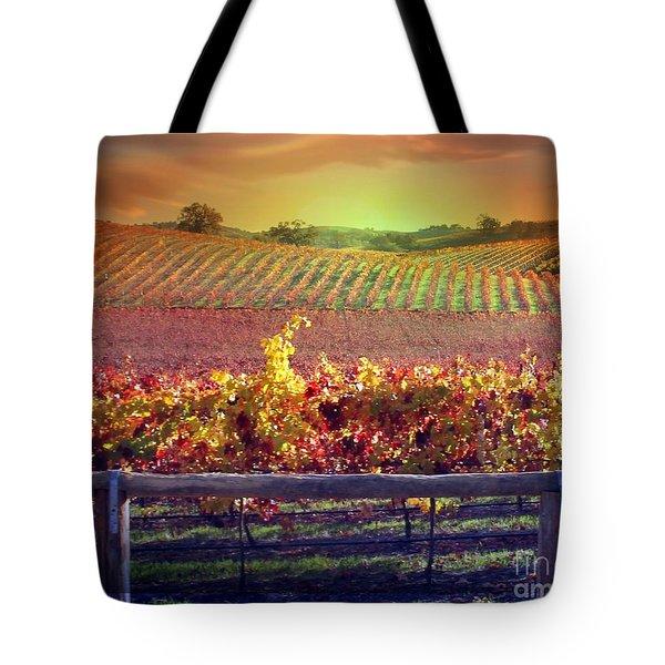 Sunrise Vineyard Tote Bag by Stephanie Laird