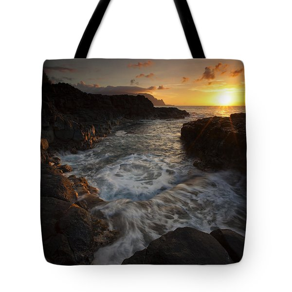Sunset Pool Tote Bag by Mike  Dawson