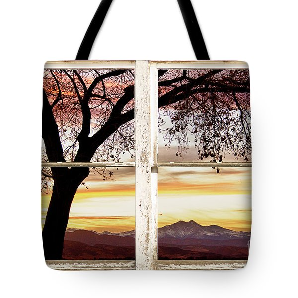 Sunset Tree Silhouette Abstract Picture Window View Tote Bag by James BO  Insogna