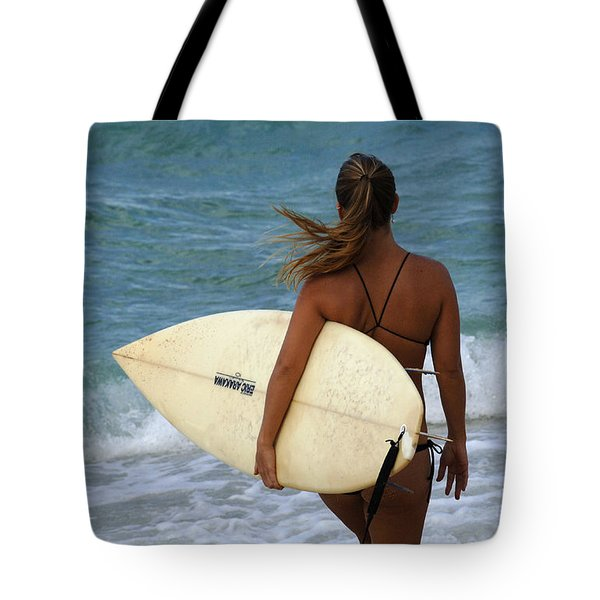 Surfer Girl Tote Bag by Bob Christopher